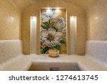 luxurious turkish steam bath  ...   Shutterstock . vector #1274613745