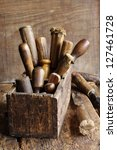Old Woodworking Tools In A...