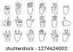 hand gestures  great design for ... | Shutterstock .eps vector #1274624002