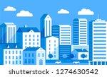blue color cityscape flat... | Shutterstock .eps vector #1274630542