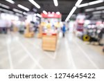 shopping mall abstract... | Shutterstock . vector #1274645422