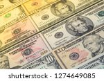 dollars banknotes concept.... | Shutterstock . vector #1274649085