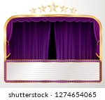 vector wide stage with purple... | Shutterstock .eps vector #1274654065