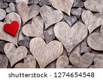 rustic valentines day... | Shutterstock . vector #1274654548