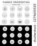 fabric properties vector linear ... | Shutterstock .eps vector #1274655535