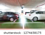 car parking lot  abstract blur... | Shutterstock . vector #1274658175