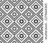 art deco batik seamless pattern ... | Shutterstock .eps vector #1274666365