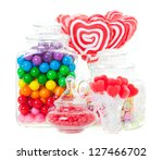 A Display Of Various Candies I...
