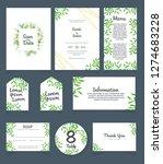 wedding invitation card... | Shutterstock .eps vector #1274683228