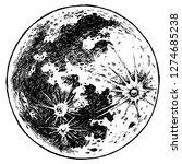 perfect full moon | Shutterstock . vector #1274685238