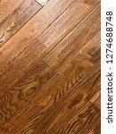 top view of hardwood floor in... | Shutterstock . vector #1274688748
