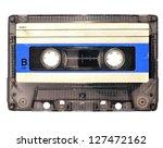 cassette tape on white...   Shutterstock . vector #127472162
