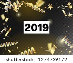 2019 tinsel confetti isolated ... | Shutterstock .eps vector #1274739172