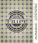 tripe arabic badge background.... | Shutterstock .eps vector #1274742562