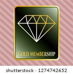 gold emblem with diamond icon... | Shutterstock .eps vector #1274742652