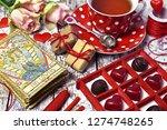 love magic ritual with tarot... | Shutterstock . vector #1274748265