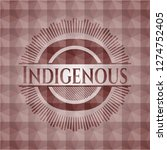 indigenous red badge with... | Shutterstock .eps vector #1274752405