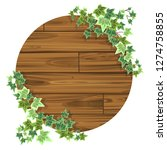 natural frame of wooden board... | Shutterstock .eps vector #1274758855