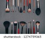 professional set of brushes for ...   Shutterstock . vector #1274759365