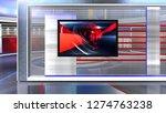 d rendering virtual set studio... | Shutterstock . vector #1274763238