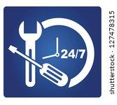 24 hour service sign  vector   Shutterstock .eps vector #127478315