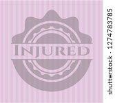 injured pink emblem | Shutterstock .eps vector #1274783785
