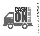 cash on delivery graphic label...   Shutterstock . vector #1274796112