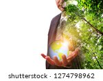 the world in hand   ecology... | Shutterstock . vector #1274798962