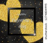 happy valentines day lettering... | Shutterstock .eps vector #1274804995