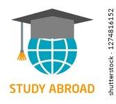 globe with graduate cap vector... | Shutterstock .eps vector #1274816152