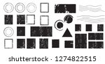 grunge post stamps collection ... | Shutterstock .eps vector #1274822515