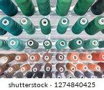 multicolored cotton threads ... | Shutterstock . vector #1274840425