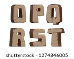 stone alphabets o to t part 3 | Shutterstock .eps vector #1274846005