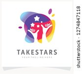 colorful logo design template... | Shutterstock .eps vector #1274847118