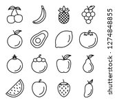 fruit icons pack. isolated... | Shutterstock .eps vector #1274848855