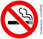 no smoking | Shutterstock .eps vector #12748498