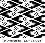 geometrical ikat pattern on... | Shutterstock .eps vector #1274857795