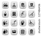 cleaning icons set for web. all ... | Shutterstock .eps vector #127486436
