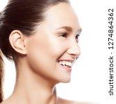 lifstyle studio headshot of... | Shutterstock . vector #1274864362