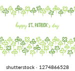 happy st. patrick's day card... | Shutterstock .eps vector #1274866528