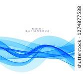 elegant blue wave vector...   Shutterstock .eps vector #1274877538
