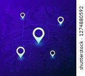 city navigation map. futuristic ... | Shutterstock .eps vector #1274880592