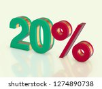 20 percent off 3d render | Shutterstock . vector #1274890738
