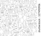 birthday seamless pattern. hand ... | Shutterstock .eps vector #127490906