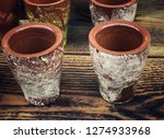 handmade coffe mugs made by clay | Shutterstock . vector #1274933968