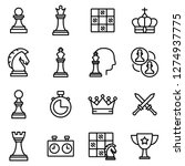 Chess Icons Pack. Isolated...