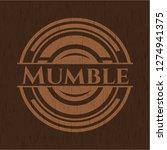 mumble retro style wooden emblem   Shutterstock .eps vector #1274941375
