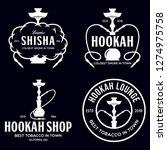 Set Of Hookah Labels  Badges...