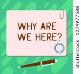handwriting text why are we... | Shutterstock . vector #1274977588