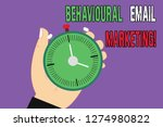 handwriting text behavioural... | Shutterstock . vector #1274980822